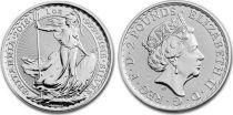 Royaume-Uni 2 Pounds Elisabeth II - Britannia Once Argent 2018
