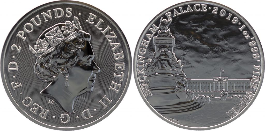 Royaume-Uni 2 Pounds Elisabeth II - Buckingham Palace - Once Argent 2019