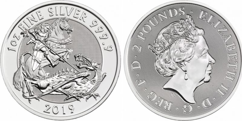 Royaume-Uni 2 Pounds Elisabeth II - The Valiant - Once Argent 2019
