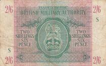 Royaume-Uni 2 Shillings 6 Pence ND1942 - Série S