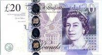 Royaume-Uni 20 Pounds Elisabeth II - Adam Smith - 2012