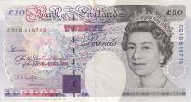 Royaume-Uni 20 Pounds Elisabeth II - Michael Faraday - 1993 - TTB