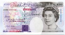 Royaume-Uni 20 Pounds Elisabeth II - Michael Faraday - 1993 (1999) - Neuf