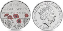Royaume-Uni 5 Livres Elisabeth II - Jour du Souvenir  - 2017