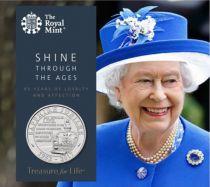 Royaume-Uni 5 Livres Elisabeth II - Jubilée de Saphir 1952-2017