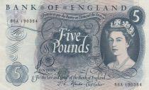 Royaume-Uni 5 Pounds Elisabeth II - Britannia - 1963