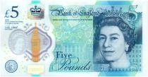 Royaume-Uni 5 Pounds Elisabeth II - Winston Churchill - 2016 Polymer