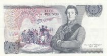 Royaume-Uni 5 Pounds Elisabeth II ND1987 Sign Page - Duc de Wellington