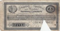 Royaume-Uni 5 Pounds Stamford Spalding and Boston Bank - 1898 - TB
