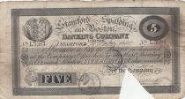 Royaume-Uni 5 Pounds Stamford Spalding and Boston Bank - 1899 - TB - L.3364