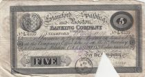 Royaume-Uni 5 Pounds Stamford Spalding and Boston Bank - 1899 - TB - L.4239