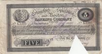 Royaume-Uni 5 Pounds Stamford Spalding and Boston Bank - 1899 - TB
