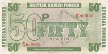 Royaume-Uni 50 New Pence ND1972 - Imprimeur BWC