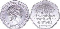 Royaume-Uni 50 Pence - Elisabeth II - Brexit - 2020 - SPL