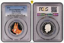 Royaume-Uni 50 Pence 2016  - Squirrel Nutkin - PCGS PR 69