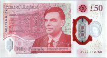Royaume-Uni 50 Pounds Elisabeth II - Allan Turing - 2020 (2021) - Neuf