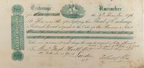 Royaume-Uni Volkart Brothers - Lettre de Change (Troisième) 1876 - TTB