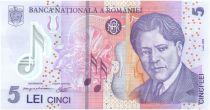 Rumania 5 Lei George Enescu - Opera - 2011