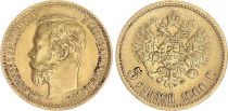 Russian Federation 5 Rubles Gold Nicolas II - Eagle 1900 - St Petersburg
