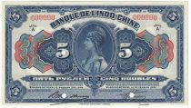 Russian Federation 5 Rubles Indochina Vladivostok - 1919 Specimen - UNC - P.S1256