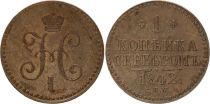 Russie 1 Kopek Nicolas I - 1842 SPM