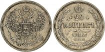 Russie 20 Kopeks Alexandre II, Aigle -1863