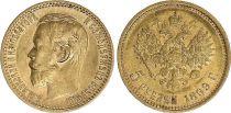 Russie 5 Roubles, Nicolas II - Aigle 1899 Or  - 3 ex