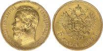 Russie 5 Roubles Or , Nicolas II - Aigle 1898 - St Petersbourg