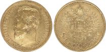 Russie 5 Roubles Or , Nicolas II - Aigle 1898 St Petersbourg - 2 ex