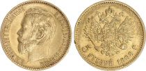 Russie 5 Roubles Or , Nicolas II - Aigle 1898 St Petersbourg - 5 ex