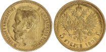 Russie 5 Roubles Or , Nicolas II - Aigle 1898 St Petersbourg - 8 ex