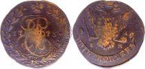 Russie C.59.3 5 Kopeks, Catherine II - Aigle - 1782 E M Ekateringburg