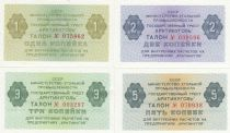 Russie Série 4 billets SPITBERG - 1 à 5 Kopeks - 1979 -  p.NEUF