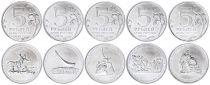 Russie Série de 5 monnaies - Guerre patriotique - 2015