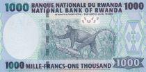 Rwanda 1000 Francs 2004 - Bâtiment, Singe