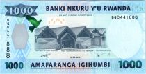 Rwanda 1000 Francs Factory - Doggett´s guenon - 2015