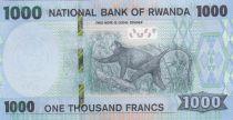 Rwanda 1000 Francs Factory - Doggett\'s guenon - 2019