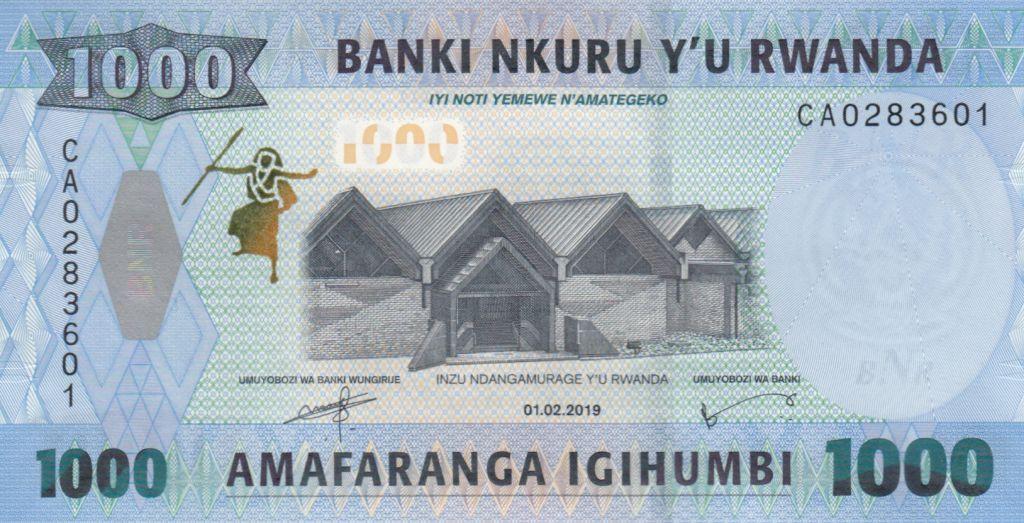 Rwanda 1000 Francs Usine - Singe Doggett - 2019