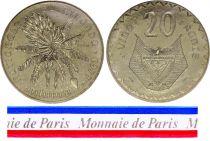 Rwanda 20 Francs - 1977 - Essai - Banque Nationale du Rwanda