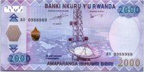 Rwanda 2000 Francs Satellite dish - Coffee - 2014