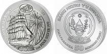 Rwanda 50 Francs Sedov - Silver Oz 2021 - UNC