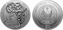 Rwanda 50 Francs Shoebill - Once Argent 2019