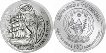 Rwanda 50 Francs Voilier SEDOC - Once Argent 2021 - FDC