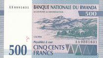 Rwanda 500 Francs 1994 - Antilope, paysage