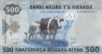 Rwanda 500 Francs Cows - Children - 2013