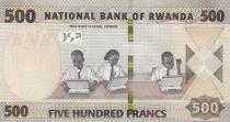 Rwanda 500 Francs Students - Bridge - 2019