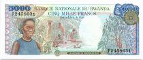 Rwanda 5000 Francs Cueillette du café - 1988 - Neuf