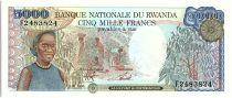 Rwanda 5000 Francs Cueillette du café - 1988