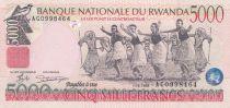 Rwanda 5000 Francs Danseurs africains - Banque Nationale - 1998