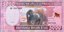 Rwanda 5000 Francs Mountain gorillas - 2014